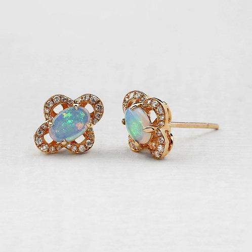 Opal Petal Studs
