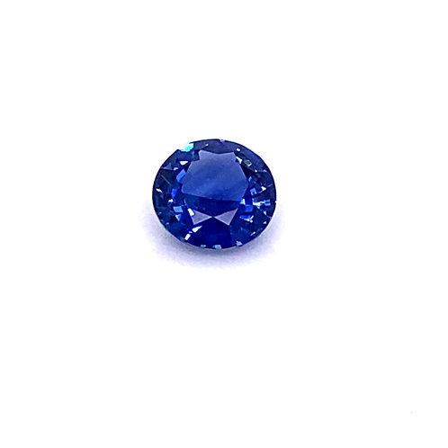 Bright Blue Round Sapphire