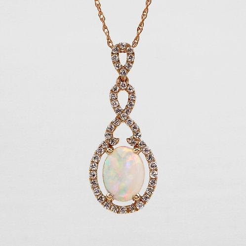 Continual Twist Opal Pendant