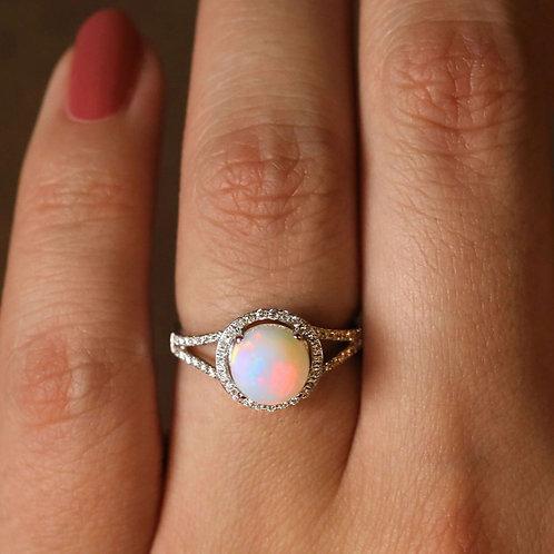 Split Shank Opal Ring