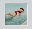 'Red bathing suit'
