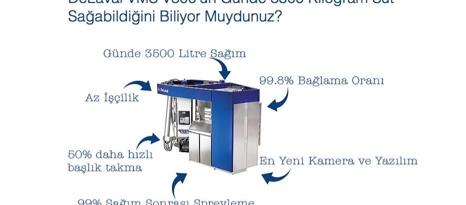 Yeni DeLaval VMS V300 ile Günde 3500 Kg Süt Sağım