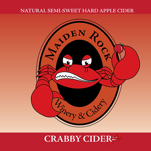 Crabby Cider™ Natural Semi-Sweet Hard Cider