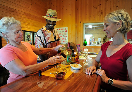 Jan Enjoys Wine Tasting with Carol & Herdie