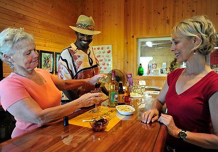 Jan Enjoys Wine Tasting with Carol & Herdie
