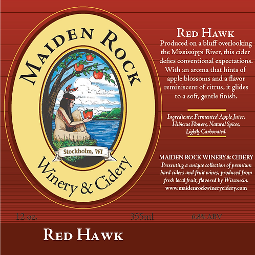 Red Hawk Natural Sweet Hard Apple Cider