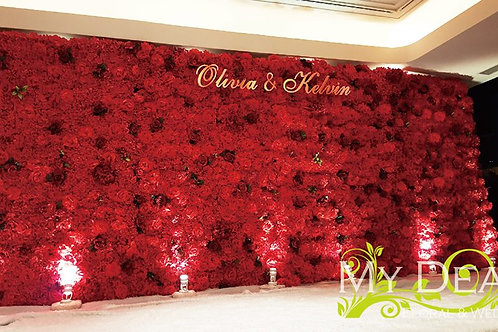 Flower Wall 001(Red)