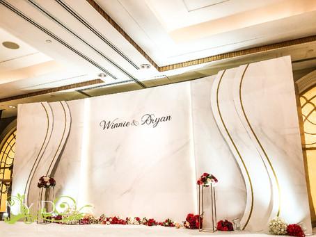 MY DEAR FLORAL Kowloon Shangri La Hotel Grand Ballroom Wedding Decoration- 婚禮佈置