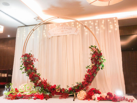 [MY DEAR FLORAL s Kowloon Hotel Lung Yat Keen Wedding Decoration- 婚禮佈置 ]