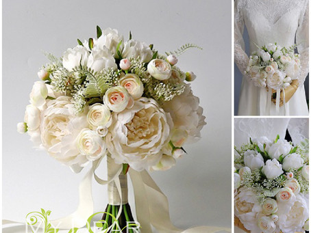 Silk Flower Bouquet WB101 (Rose, Peony)