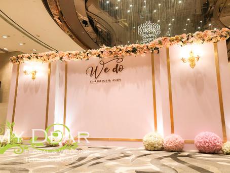 [MY DEAR FLORAL s Harbour Grand Hong Kong Hotel Grand Ballroom Wedding Decoration- 婚禮佈置 ]
