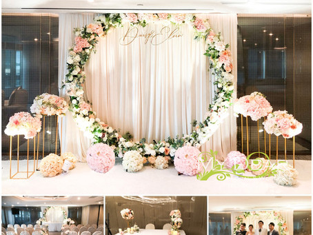 [MY DEAR FLORAL's The Kowloon Harbour Grand Hotel Hotel Wedding Decoration- 證婚婚禮佈置 ]