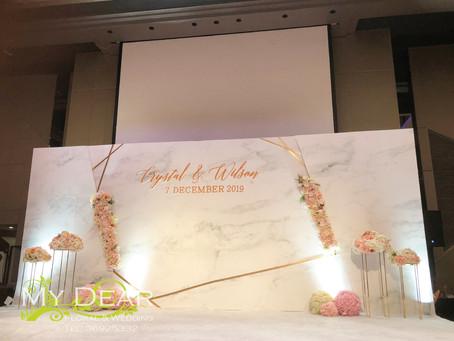 [MY DEAR FLORAL Crown Plaza HotelGrand Ballroom Wedding Decoration- 婚禮佈置 ]