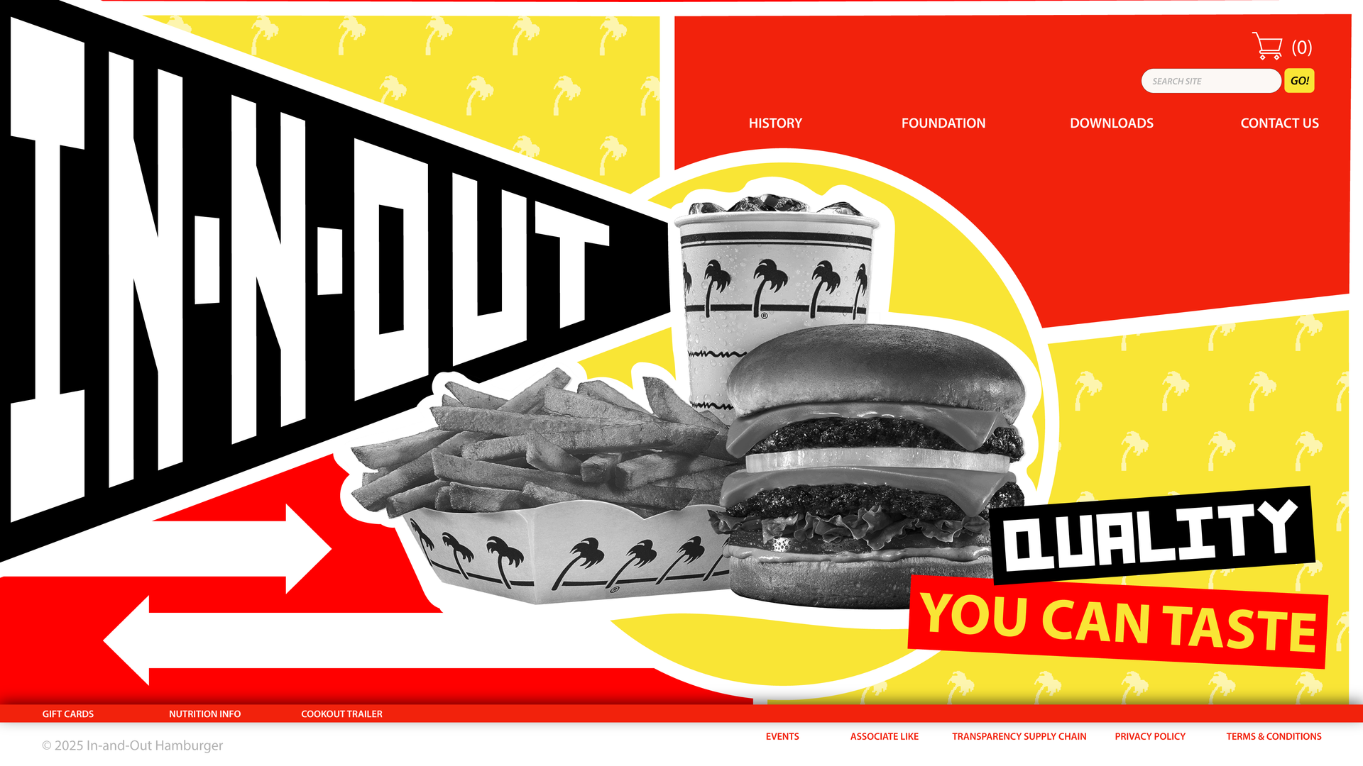 Home Page Redesign: In-N-Out Burger