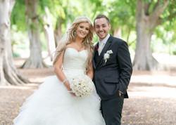Wedding portrait Botanical Gardens
