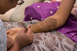 Bride henna