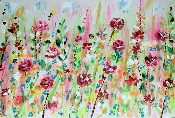Floral painting, flower art. floral painting