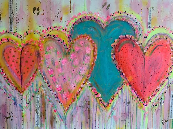 Heart art, heart painting, heart painting