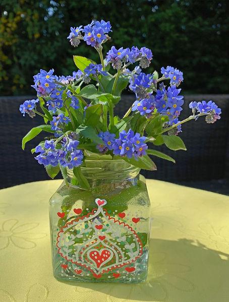 vase, Vintage vase Glass Vase