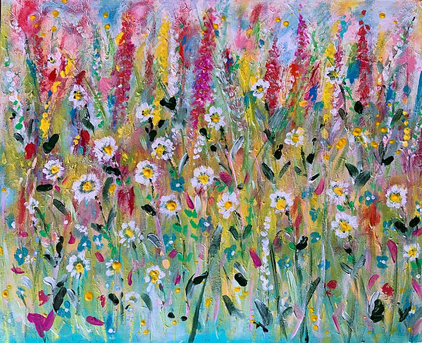 A beautiful floral painting