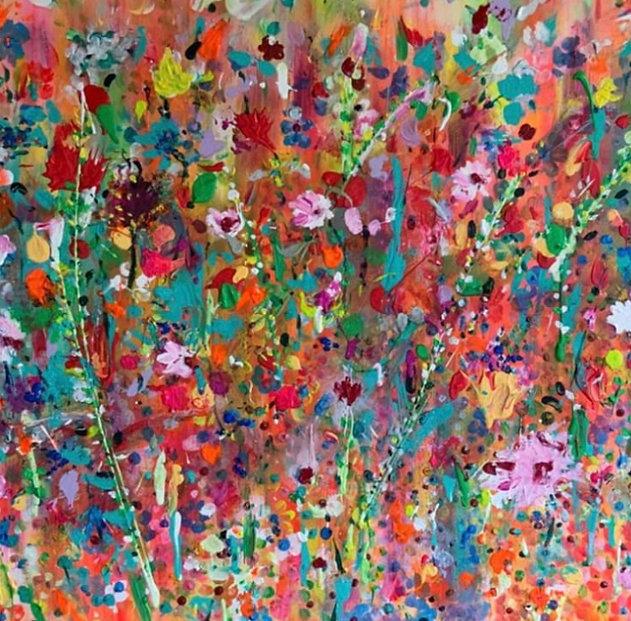 Flowers Meadow. floral Fields of flowers