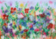 Floral painting on paper