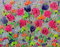 floral art , flower art, floral painings