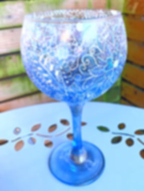 Gin Glass. Glass design , Glass art
