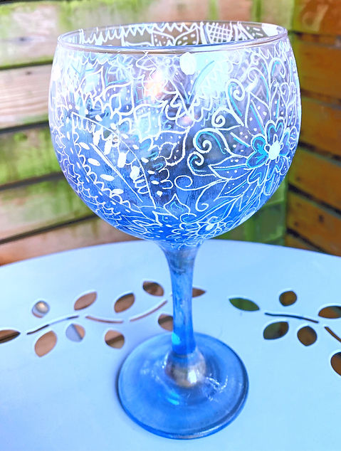 Gin Glass. Glass design , Glass art