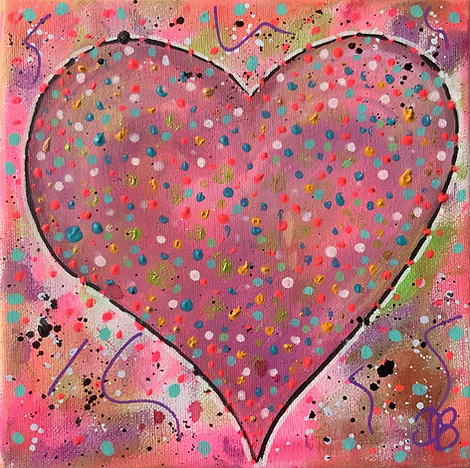 hearts, colourful hearts, colourful art, pretty paintings