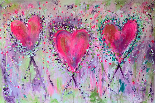 Heart Painting. hearts, heart art