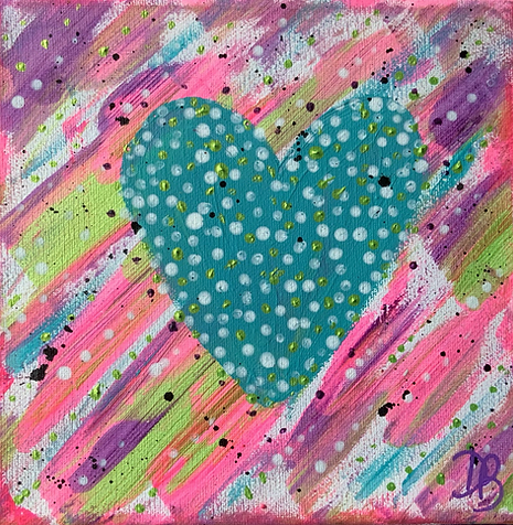 hearts colourful hearts colours heart paintings