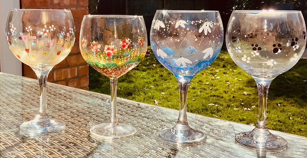 Gin Glasses . Glass design .pretty designs