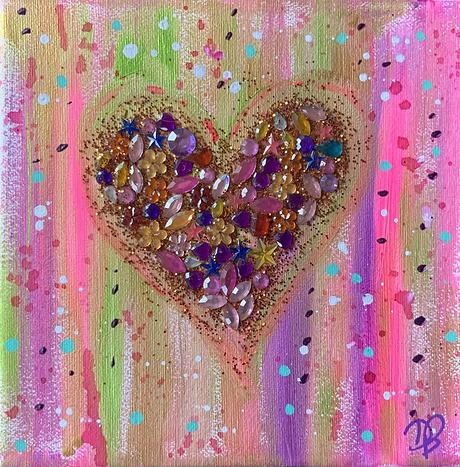 hearts gems sparkle colours