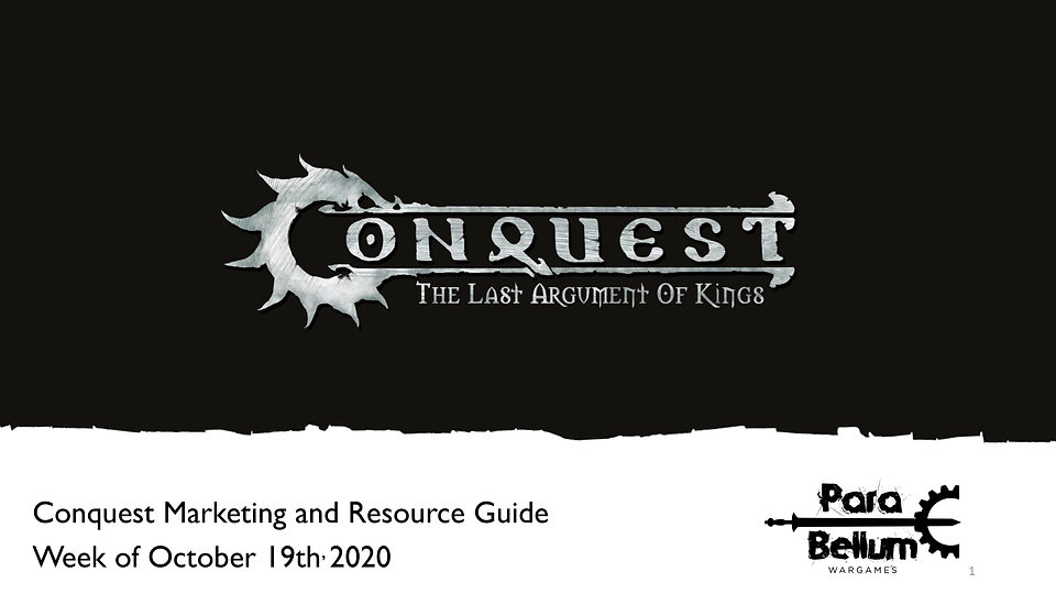 Conquest Update and Resource Guide for 1