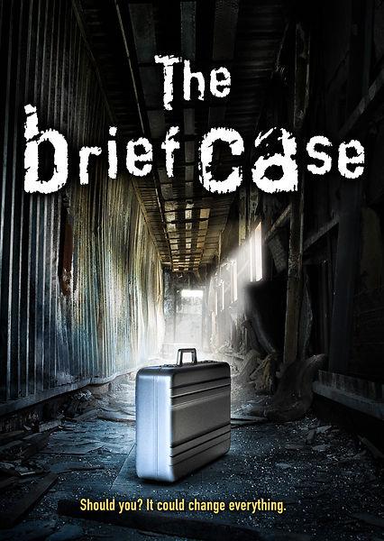 Book cover art. Mysterious briefcase left in a dark hallway of an abandoned building. Digita art by Peter Hernandez for Hernandez Imaging. www.hernandezimaging.net