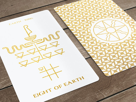Eight of Earth(Pentacles)