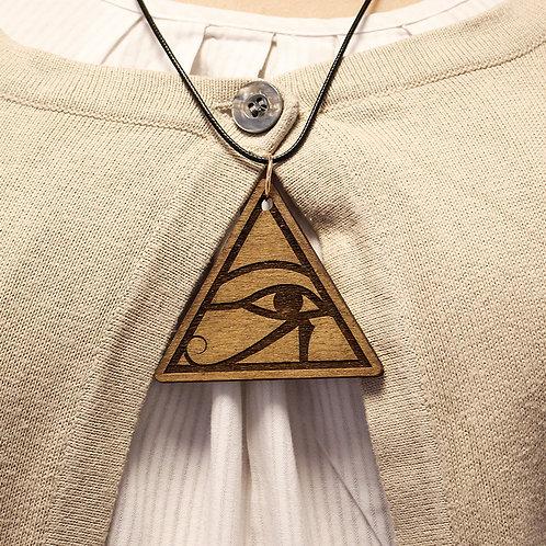 """Eye of Horus"" - Wooden pendant"