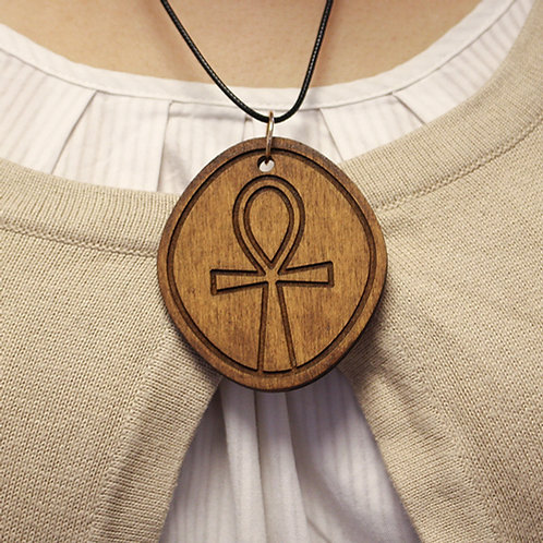 Ankh - Wooden pendant