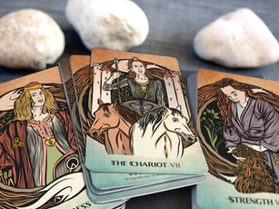 The Empress, the Chariot, and Strength - Tarot of Sacred Realms