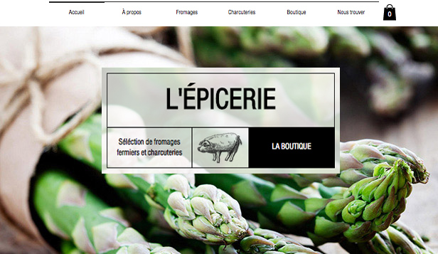 Alimentation et Boissons website templates – Épicerie Fine
