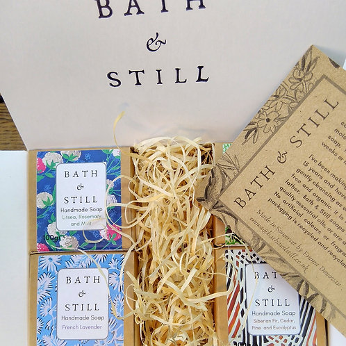 Personalised Four Soap Gift Box