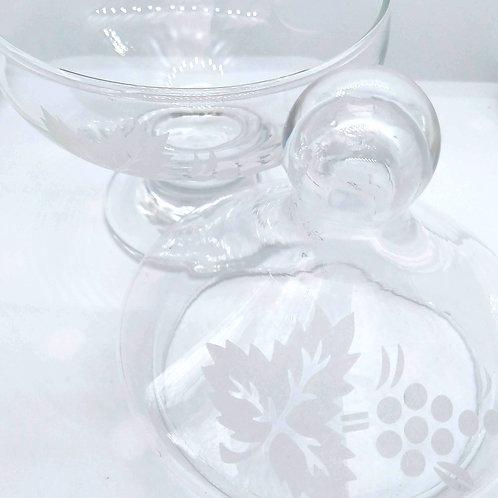 Vintage Glass Soap Jar