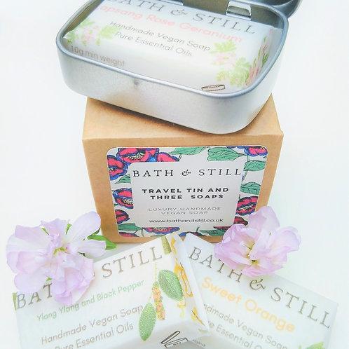 Luxury handmade vegan travel soap set