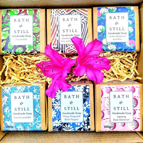 Personalised Six Soap Gift Box