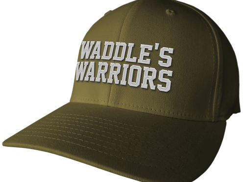 Waddle's Warriors Army Green Curved Brim Hat