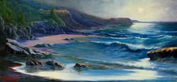 moonligh sonata, Coledale Beach, NSW 36 x 63 cm
