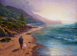 Morning stroll, Coledale Beach 42 x 57 cm