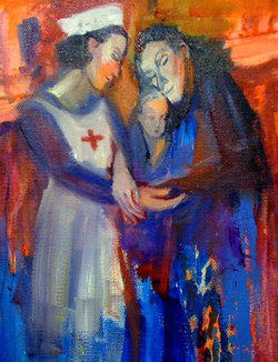 Save the Chidren Fund-Red Cross 2, (20H x 29 cm), Oil on stretched canvas