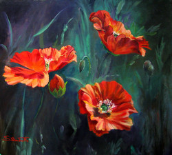 Copy (2) of Spring Silk 2010 Oil on canvas 52 x 57 cm